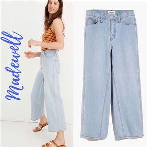 NWT MADEWELL High Waist Crop Wide Leg Jeans 26